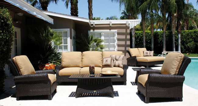 Patio Renaissance outdoor couch, chairs and table