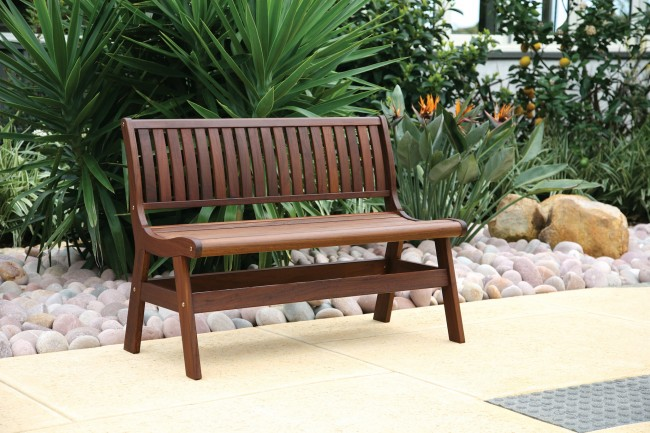 The perfect amber bench for any outdoor living environment
